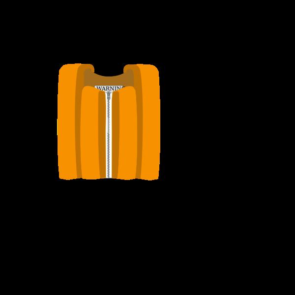 A personal flotation device vector clip art