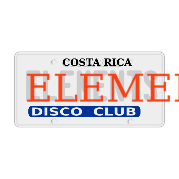 Disco club vector sign
