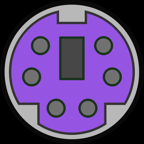 PS2 keyboard port vector image