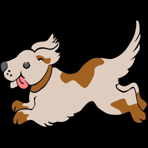 Running dog vector clip art