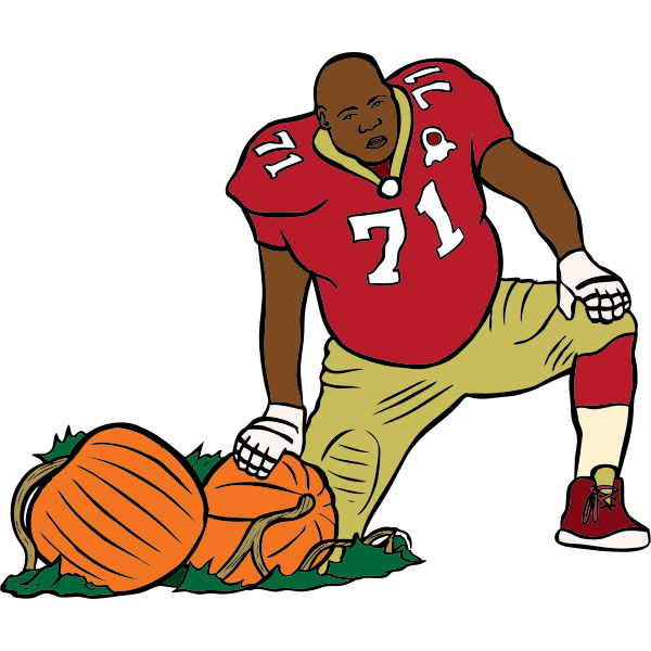 San Francisco 49er with pumpkins vector image