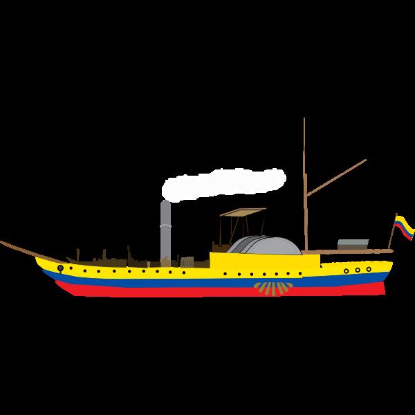 Paddle steamer image