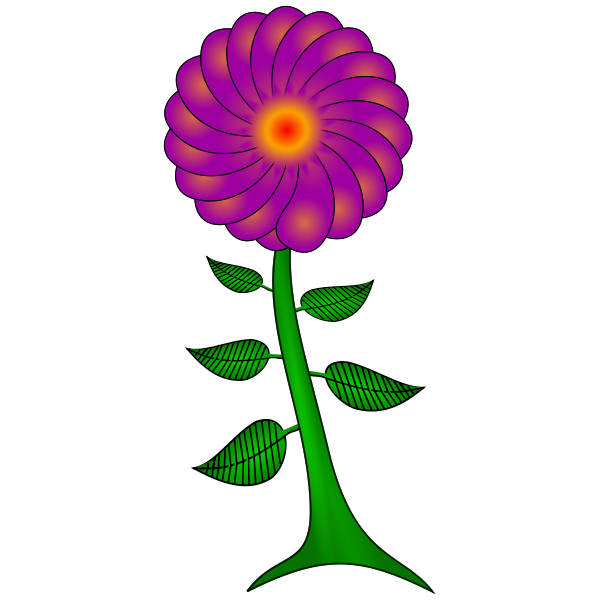 Purple paisley flower