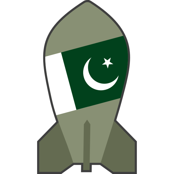 Vector illustration of hypothetical Pakistani nuclear bomb