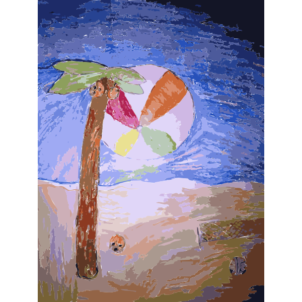 Palm Tree in the Sand Daily Sketch 25 2015060957