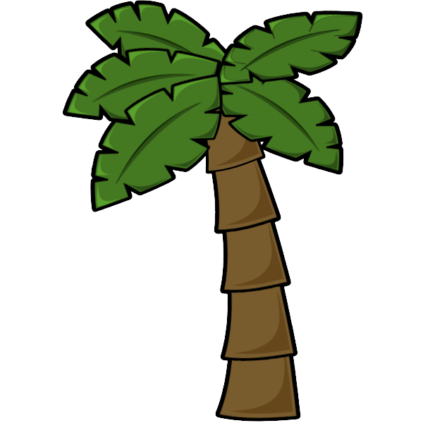 Palm three with borders