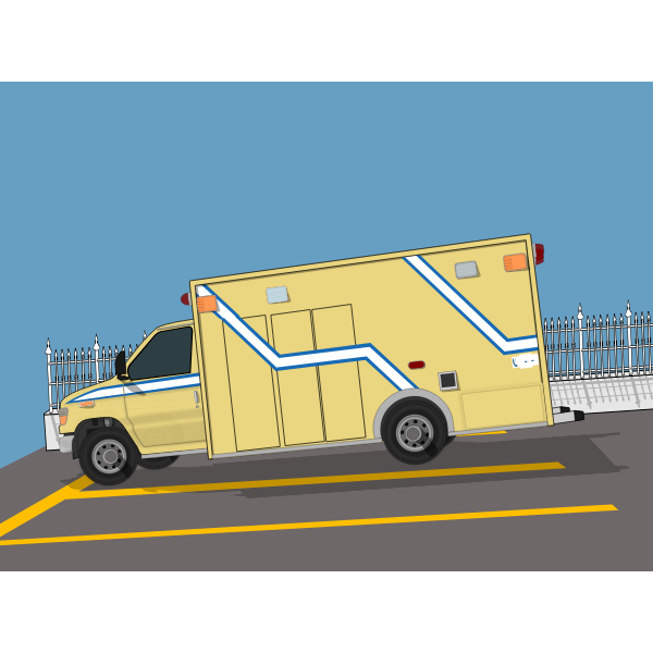 Quebec Province ambulance car on the road vector image