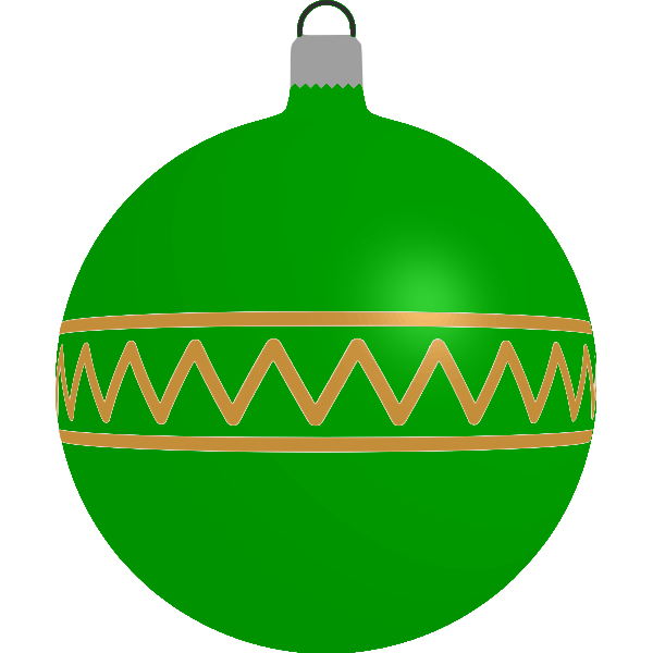 Patterned green bauble
