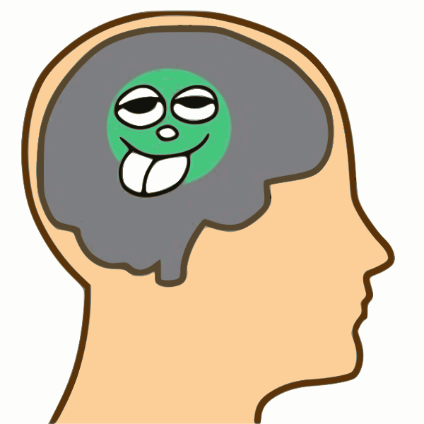 Pea-sized brain illustration