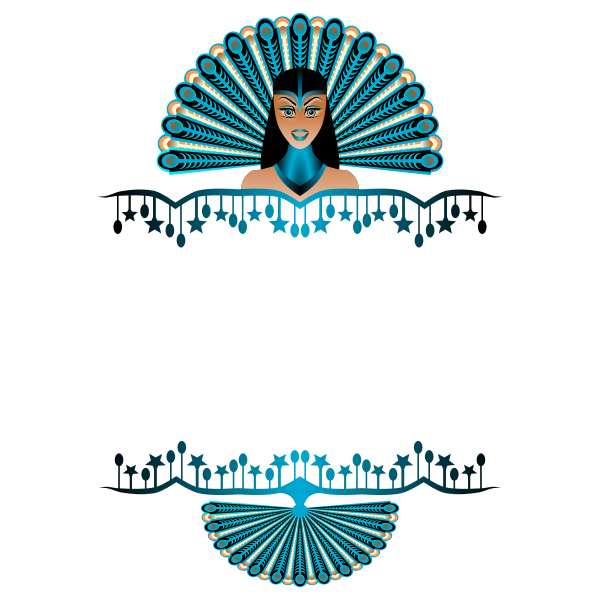 Peacock Girl Border Vector