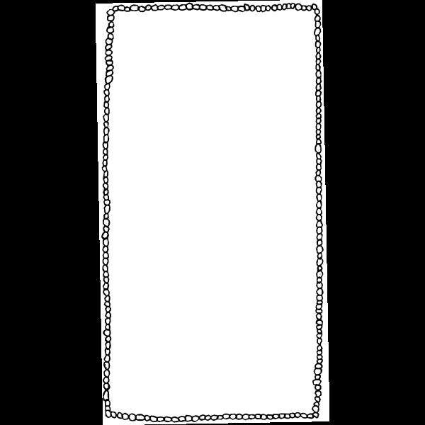 Vector image of pebble stones decorative border