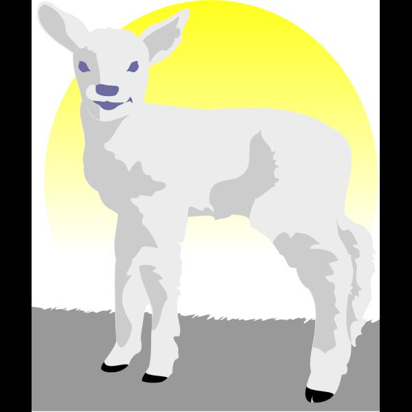 Vector image of a lamb
