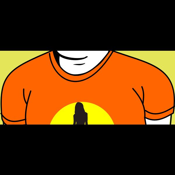 Fashionable T-shirt vector image