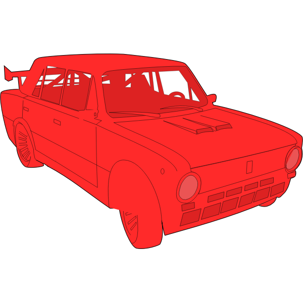 Lada car vector image