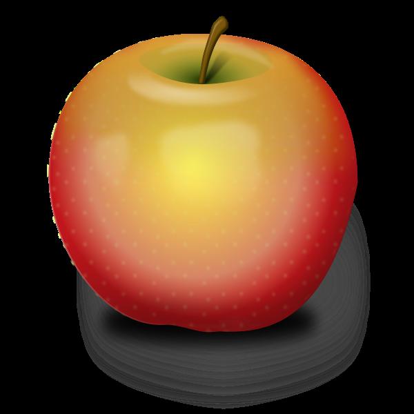 Vector illustration of light opacity apple