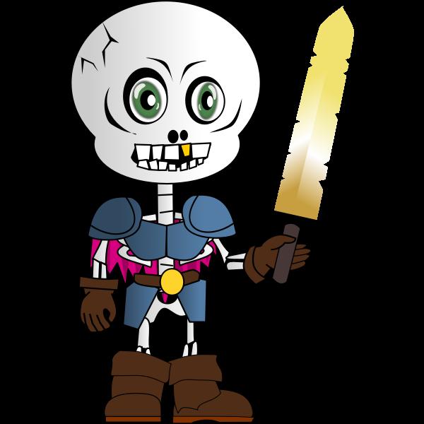 Skeleton Chibi Vector Image