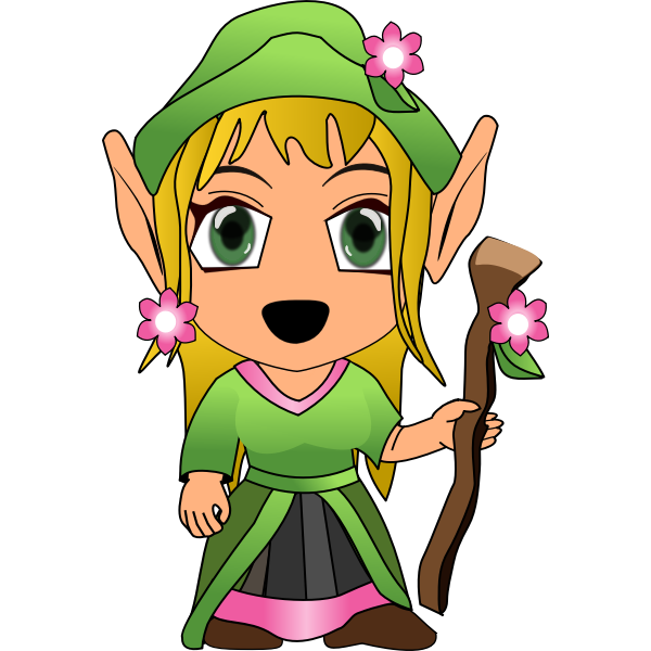 Chibi female vector character