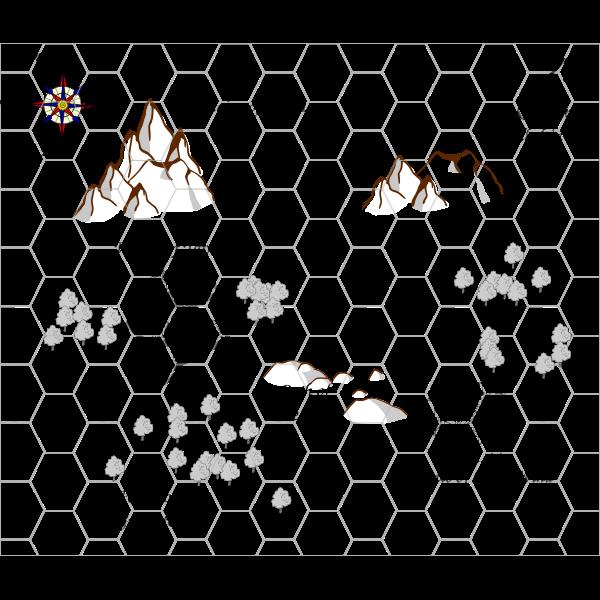 Small RPG map vector illustration