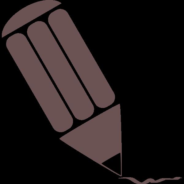 Brown pencil silhouette