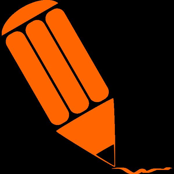 Orange pecil