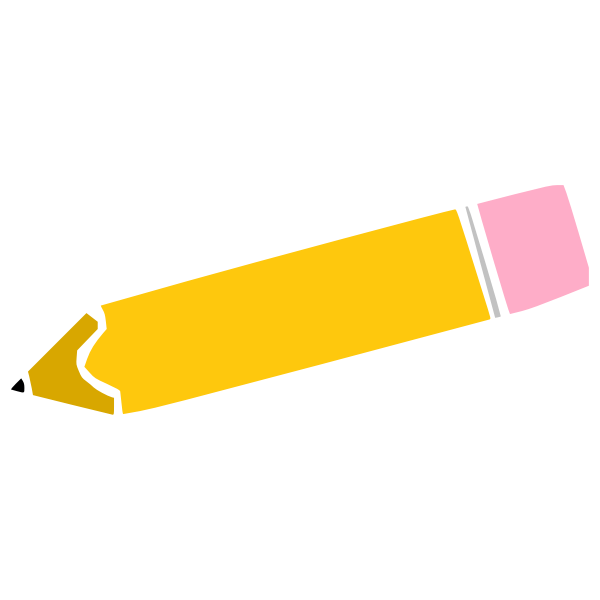 Pencil and rubber