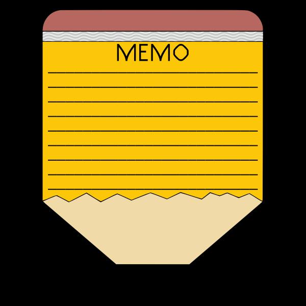 Pencil memo