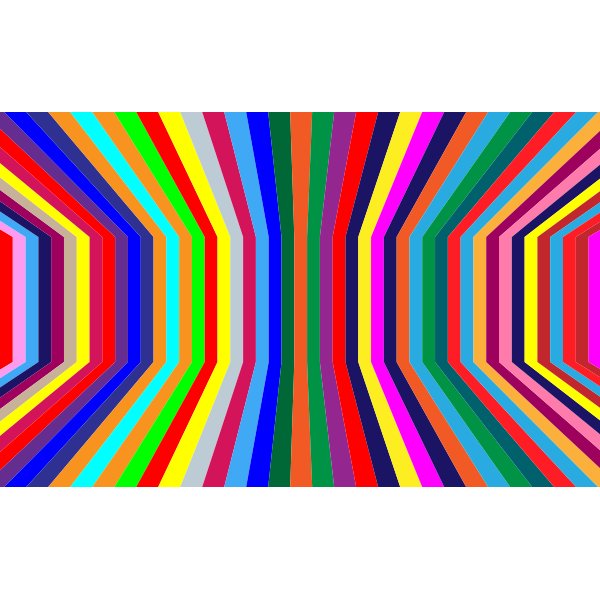 Perspective Colorful Vertical Stripes