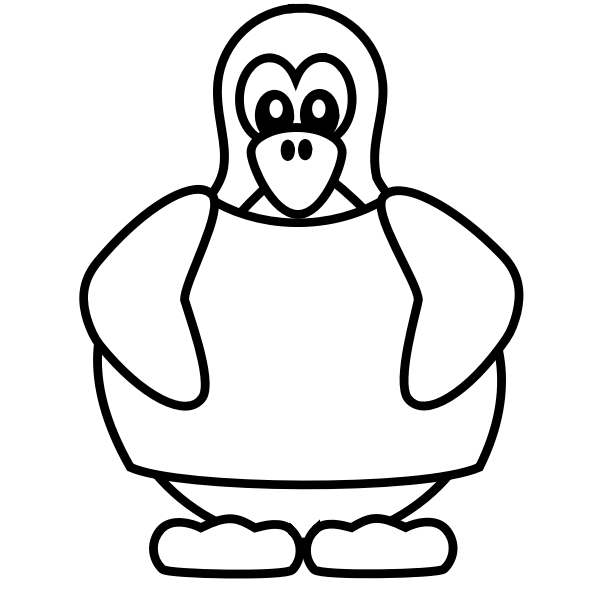 Penguin with a shirt 1
