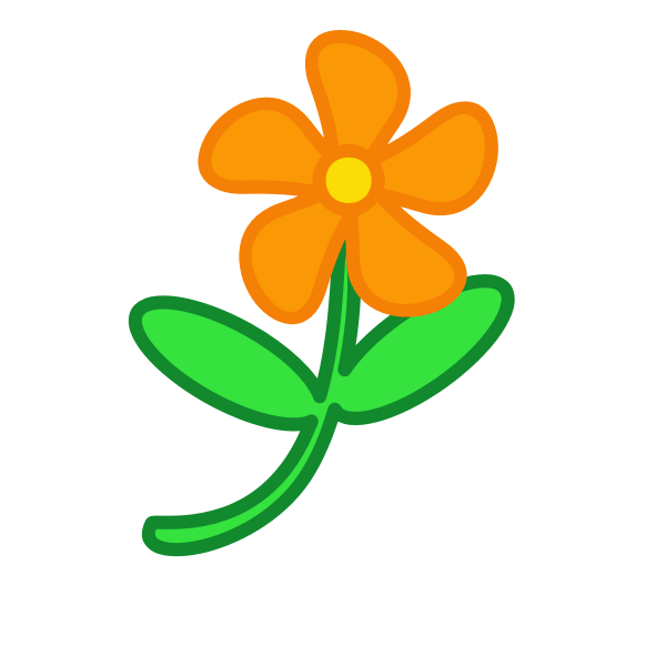 Flower clip art vector