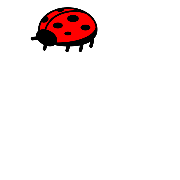 Ladybug simple vector