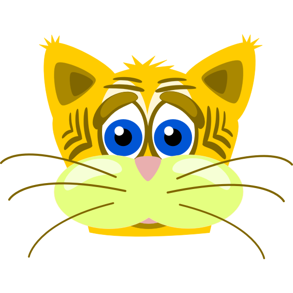 Sad tiger cat vector graphics