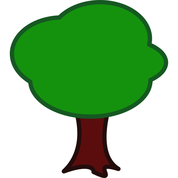 Colored vector drawing of a tree