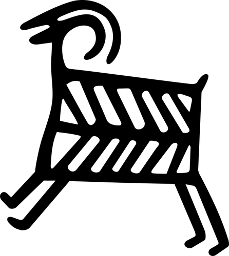 Petroglyph Sheep with internals