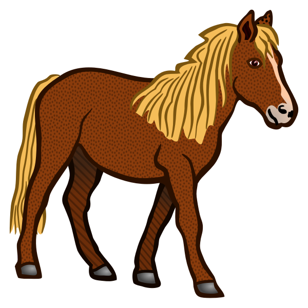 Colored horse