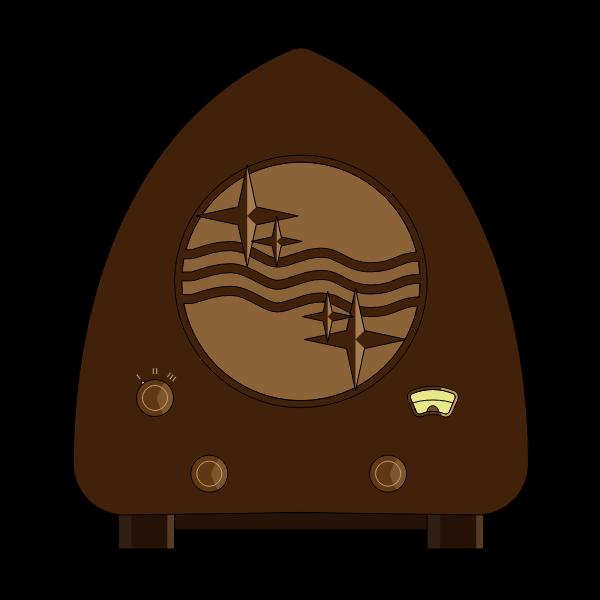 Old-Fashioned Radio Device