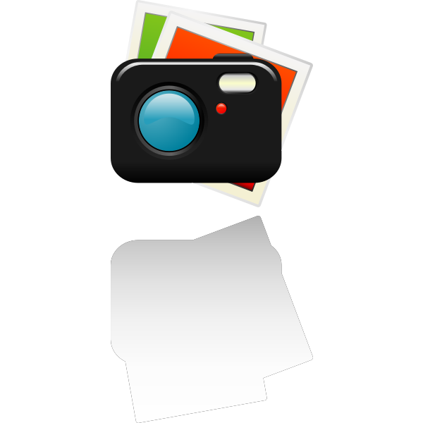 Vector clip art of camera photographs icon