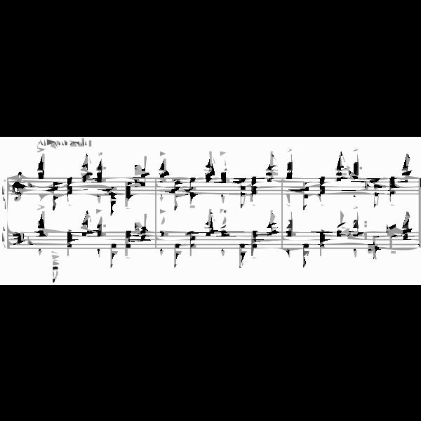 Vector clip art of musical notebook excerpt