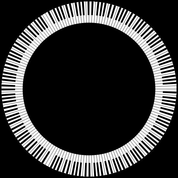 Piano Keys Circle Large