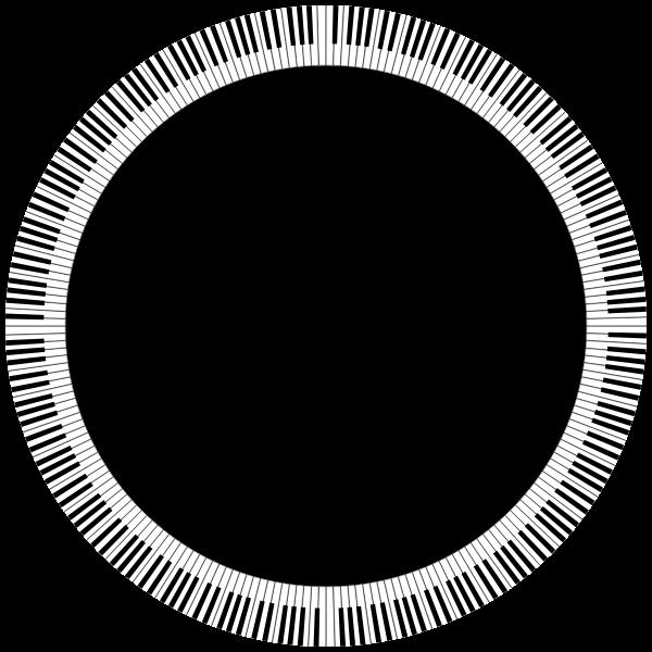 Piano Keys Circle Medium