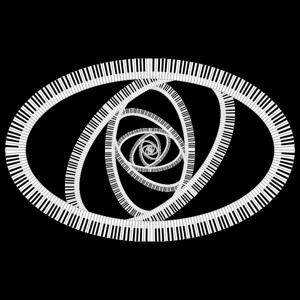 Piano Keys Ellipse Vortex