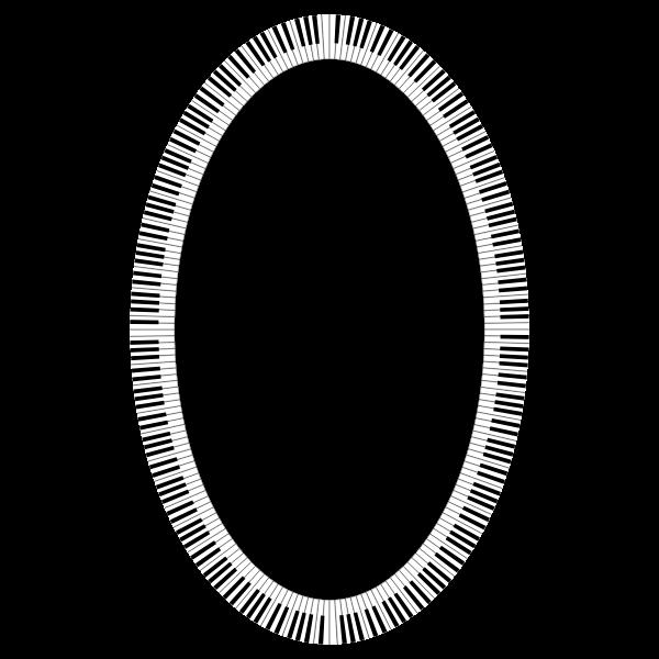 Piano Keys Ellipse