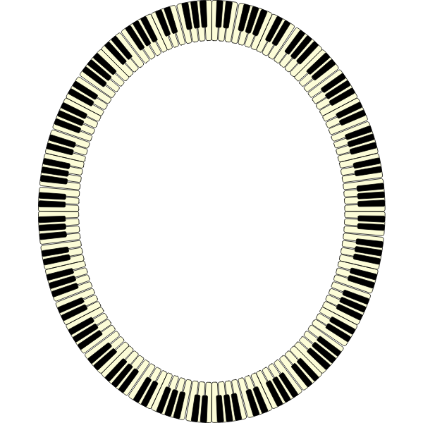 Piano Keys Frame Ellipse