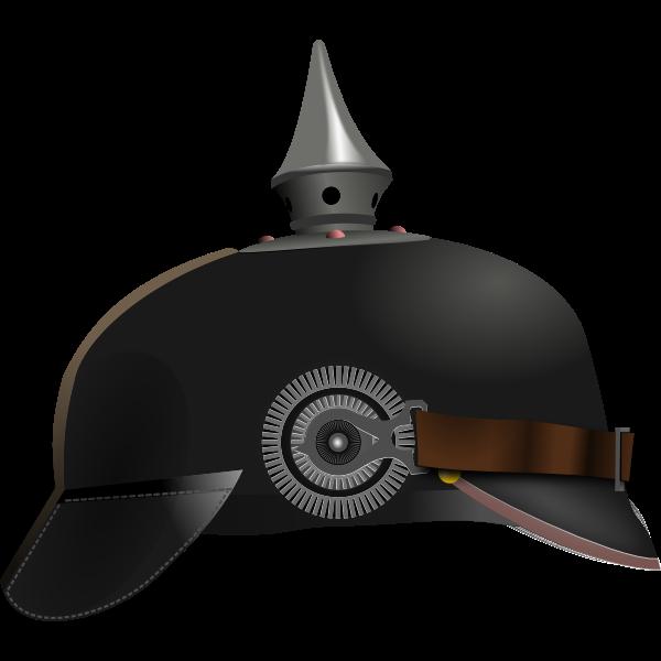 German helmet vector drawing