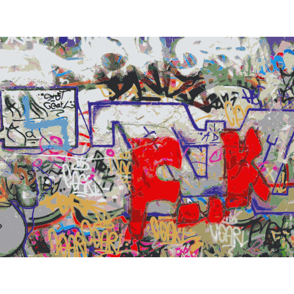 Berlin Wall at Mauerpark vector drawing