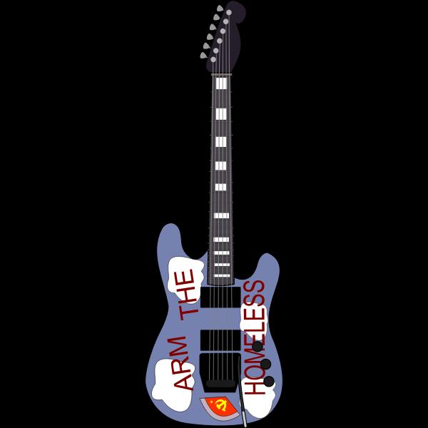 Vector clip art of guitar