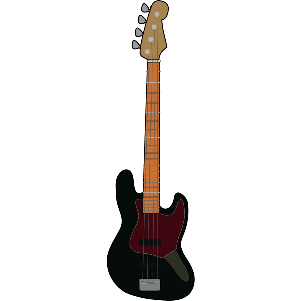 Bass guitar vector illustration