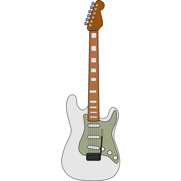 Electric guitar vector art