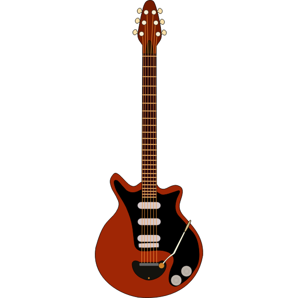 Electric guitar vector clip art