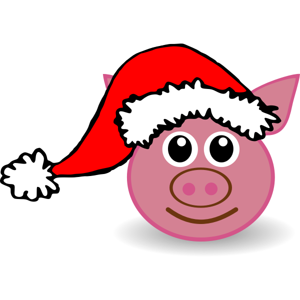 Funny piggy face vector image