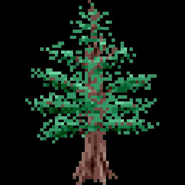 Pixel pine tree image
